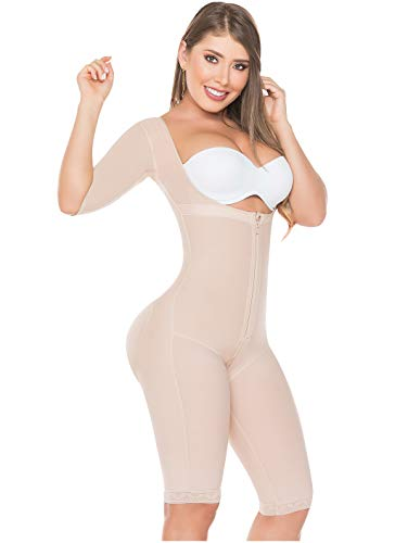 (Salome 0525 Compression Garments After Liposuction Fajas Colombianas Post Surgery Beige 2XL)