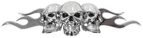 Custom Accessories 98076 Flaming Skull Emblem