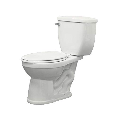Transolid TBT-1465-01 Avalon Elongated Right Height 1.6 GPF Toilet, White, 2-Piece