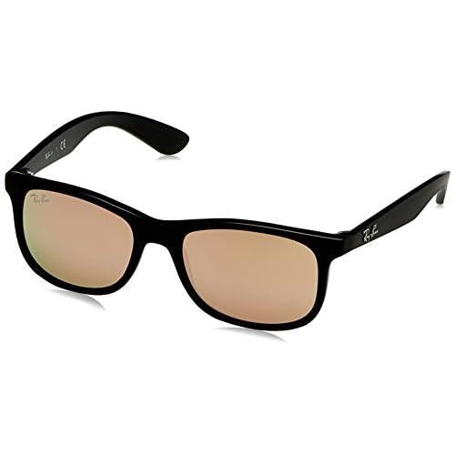 0d31bedfc3 Buena Ray-Ban Junior Gafas de sol Wayfarer en espejo de cobre negro mate  RJ9062S