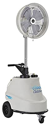 """18"""" Cool Caddie self contained Portable High Pressure Misting Fan Pump/Fan with timed Mist Cycles, 1000 psi, 5 Nozzles, 110V, 15 Amp"""