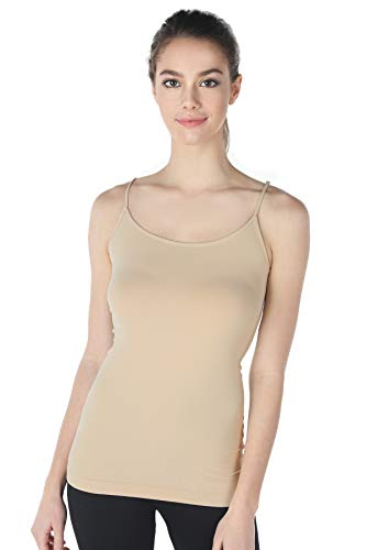 - NIKIBIKI Women Seamless Premium Classic Camisole, Made in U.S.A, One Size (Stone)
