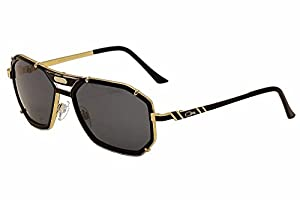 Cazal 659 Sunglasses 001SG Black-Gold Gray Lens 59mm
