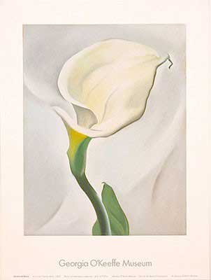 Georgia Okeeffe Calla Lily - Georgia O'Keeffe - Calla Lily Turned Away