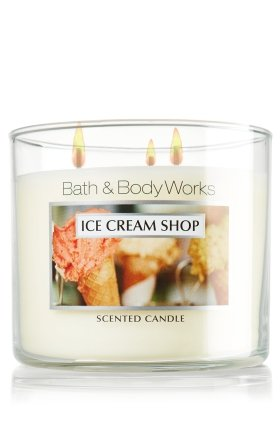 Bath and Body Works Ice Cream Shop 3 Wick Candle 14.5 Oz
