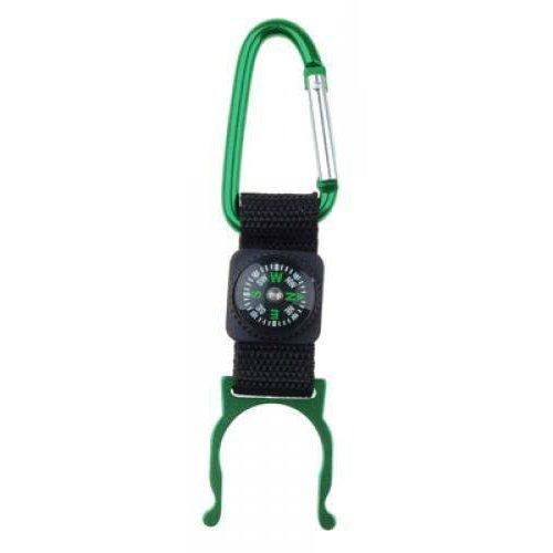 Verde moschettone porta bottiglietta da campeggio con bussola Generic