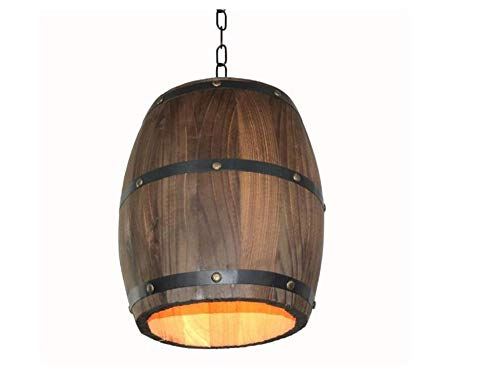Attic Chandeliers Industrial Retro Style Drum Decorative Ceiling Light, Creative Cafe Bar Winery Farm Featured Fixture Light, Wine Barrel Chandelier (Outdoor Chandelier Wine Barrel)