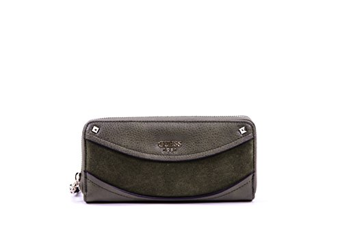 Guess Solene Woman Wallet Large Zip Around Olive