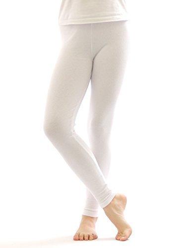Legging Thermique Leggings Pantalon long en coton Polaire chaud épais doux - blanc, 42