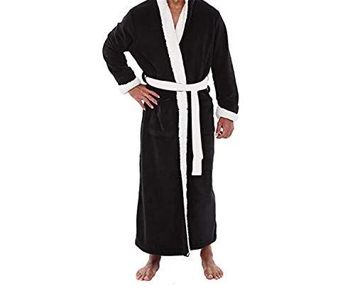 Gray Vestaglia In Abbigliamento Maniche Con La Allungato Lunghe Per Confortevole Accappatoio Plus Invernale Casa Da Peluche Uomo qCa6q