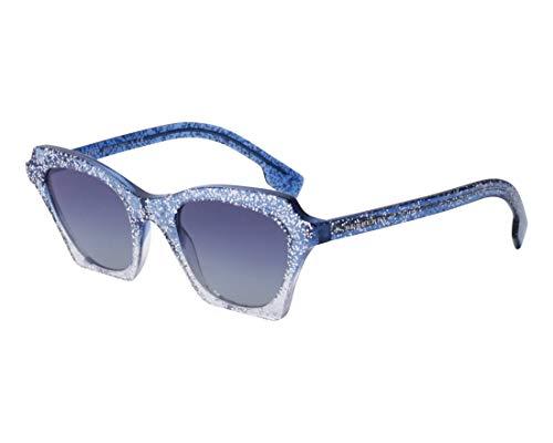 Burberry Women's 0BE4283 Top Glitter Gradient/Light Grey/Gradient Blue One ()