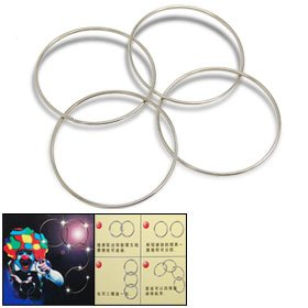 Chinese Magic Rings (Uxcell Products - Magic Four Connected Rings Magic Trick Kit - This is 1 NEW