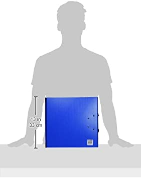 Arianex Classeur /à deux leviers Millex en PVC dos de 9.5cm Bleu