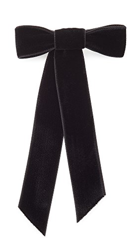 Jennifer Behr Women's Velvet Bow Barrette, Black, One Size by Jennifer Behr