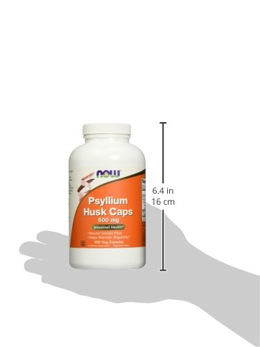 NOW Psyllium Husk 500 mg,500 Capsules by NOW Foods (Image #5)