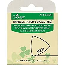 Bulk Buy: Clover Triangle Tailors Chalk Red 432-R (3-Pack)