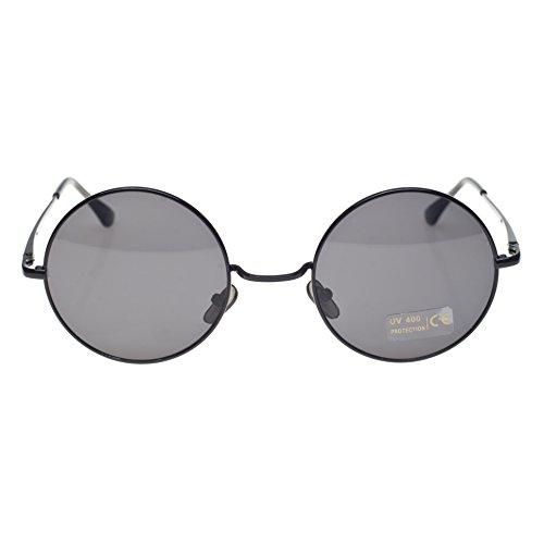 Gafas unisex de sol ochentero TM negro Negro 4sold con diseño cristales black lennon ahumados black Zq5zgE