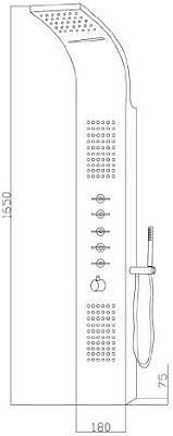 Panel de Ducha Termostático Multifunción con Alcachofa a Lluvia y ...