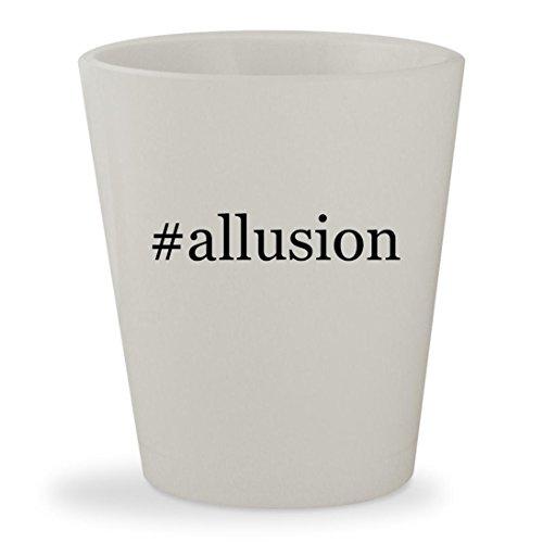 #allusion - White Hashtag Ceramic 1.5oz Shot Glass