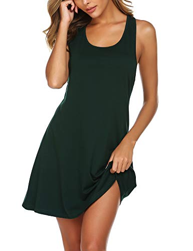 Avidlove Sexy Sleepwear for Women Tank Nightgown Chemise Racerback Sleeveless Sleep Dress Dark Green