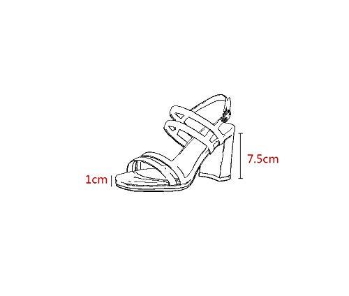 De Apricot7 35 Eu Albaricoque Grueso color Oveja Plataforma Hhgold Impermeable Piel Cm Zapatos 5 Tamaño Sandalias 5cm Punta 5cm 7 Abierta Con Alto Tacón Apricot7 Y 5SxxwqnfgB