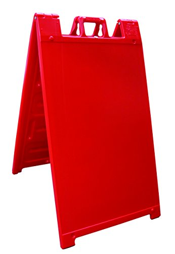 Plasticade Signicade Curb Sign / A-Frame 24x36' Color:Red