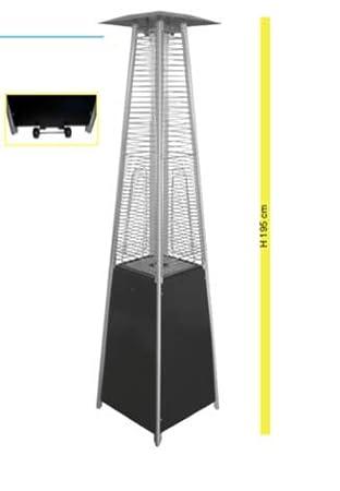 Johnson & Johnson pirámide Estufa de Gas Potencia 5000 – 9300 W 195 cm de Altura