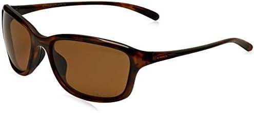 Oakley Women's She's Unstoppable 0OO9297 Polarized Round Sunglasses, TORTOISE, 57.01 mm
