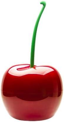 QUALY QL10128 Abfalleimer Kirsche 4 Liter Kunststoff, Cherry Bin