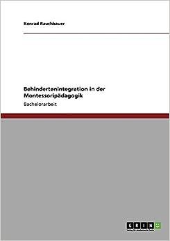 Book Behindertenintegration in der Montessoripädagogik