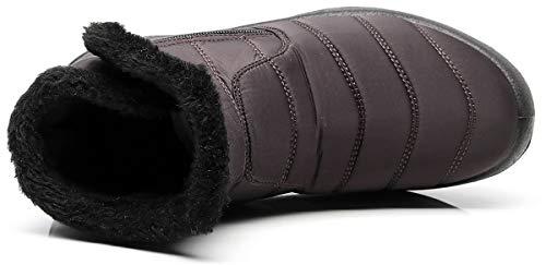 Caviglia Stivaletti 2018 Stivali Piatto Neve Pelliccia Stivali da Caloroso da Scarpe Invernali con Caff Uomo Boots Donna Impermeabile Sportive Bassi Hishoes HOwqzZBB