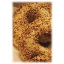 Burry Foodservice Thaw and Sell Everything Premium Sliced Bagel, 4 Ounce -- 72 per case.