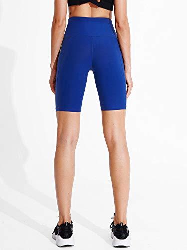 Cadmus Women's High Waist Workout Yoga Shorts Two Side Pocket