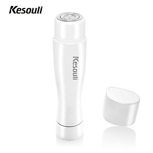 Flawless Hair Remover, Kesouli Hair Removal for Women, Facial Electric Shaver with LED Light - White