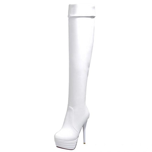 AIYOUMEI Women's Classic Boot White gquitY6pG