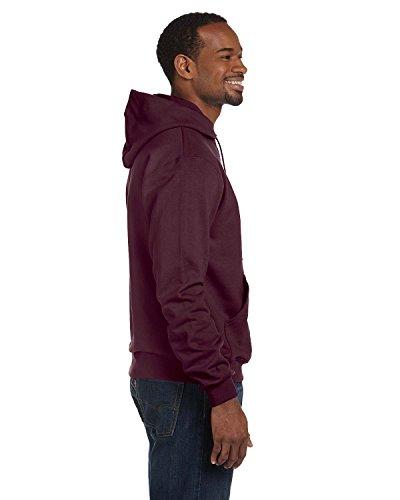 Champion Double Dry Action Fleece Pullover Hood, Maroon, M