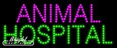 Animal Hospital LED Sign - 27 x 11 x 1 inches - Made in USA by Bright Neon Signs