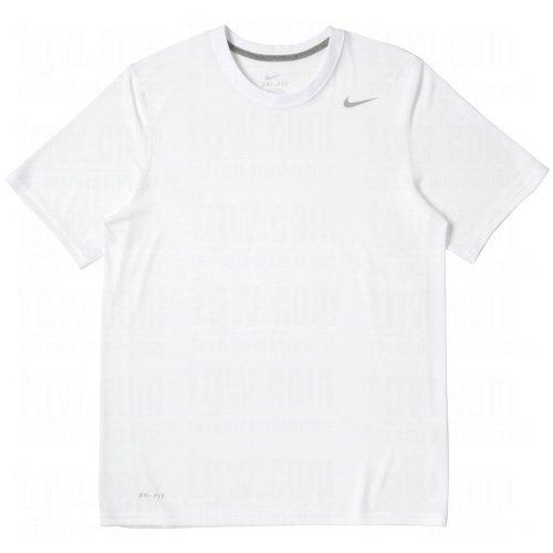 - Nike Legend White Short Sleeve Performance Shirt, XL