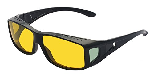 Outray Night Vision Glasses Polarized Wrap Over Prescription Glasses Yellow