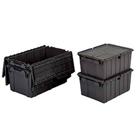 ORBIS Flipak Distribution Container, 21-7/8 x 15-1/4 x 9-7/8, Recycled Black - Lot of 6