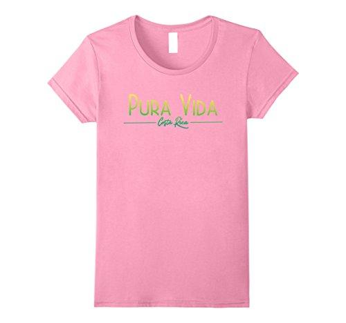 Womens Pura Vida Costa Rica T Shirt XL Pink