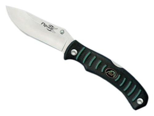 lip N' Zip-Single Blade Full Size Drop-Point Lockback Folder with Rubberized Kraton Handle Complete with Nylon Sheath (Rubberized Kraton Handle)