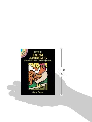 Little Farm Animals Stained Glass Coloring Book (Dover Stained Glass Coloring Book)