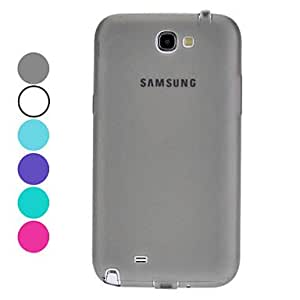 TPU Soft Case with Dustproof Plug and Mirror Screen Protector for Samsung Galaxy Note 2 N7100 (Assorted Colors) --- COLOR:Gray