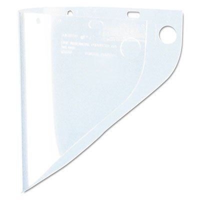 High Performance® 9 3/4 X 19 Clear Extended View Faceshield Window by Fibre-Metal Hard (View Face Shield Windows)