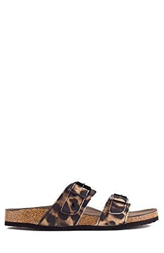 Madden Girl Brando Double Strap Open Toe Slide-On Sandal