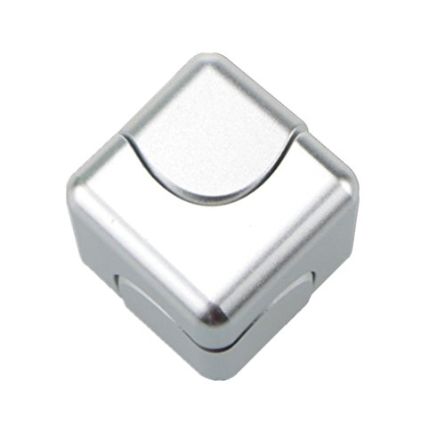 FANITEK Cube Shape Metal Fidget Hand Spinner EDC Toy, Stainless Steel Removable Bearings+Aluminium alloy Body(Silvery)