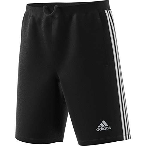 adidas Men's Designed-2-Move 3-Stripe Shorts, Black/White, XX-Large (Brooklyn Basketball Shorts Men)