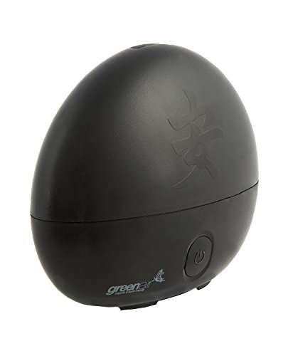 (GreeanAir Serenity Ultrasonic Diffuser for Aromatherapy, Black Zen Design, Long Lasting, Run Time Up To 8 Hours)