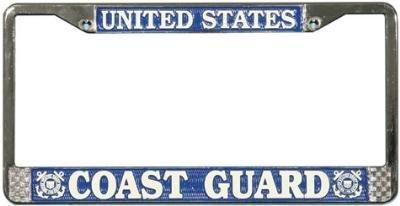 - U.S. Coast Guard Chrome License Plate Frame